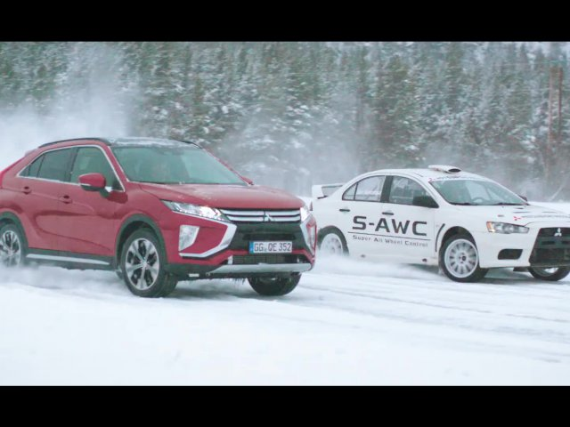 Eclipse Cross - Iced Lake Drive Norway